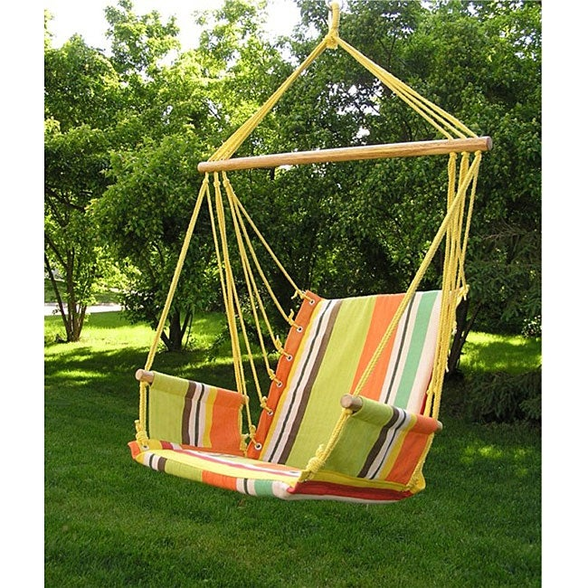 Backyard Hammock Swing : Deluxe Rainbow Hanging Hammock Sky Swing Chair  12759058  Overstock