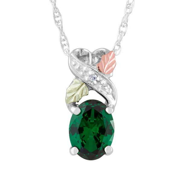 Black Hills Gold and Silver May Birthstone Necklace