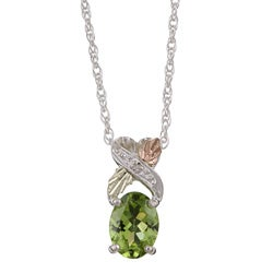 Black Hills Gold and Silver August Birthstone Necklace
