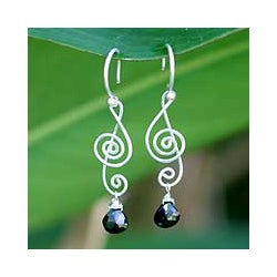 Onyx 'Thai Melody' Dangle Earrings (Thailand)