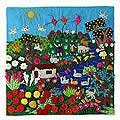 'A Spring Day' Applique Wall Hanging (Peru)