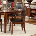 TRIBECCA HOME Frisco Bay Burnished Oak Dining Chair (Set of 2)