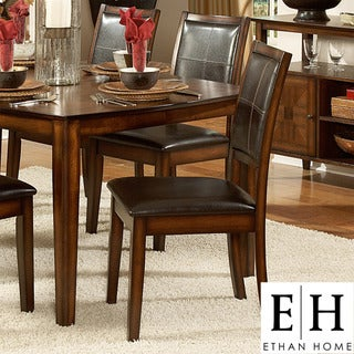 ETHAN HOME Frisco Bay Burnished Oak Dining Chair (Set of 2)