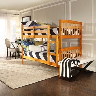 TRIBECCA HOME Simone Honey Pine Bunk Beds