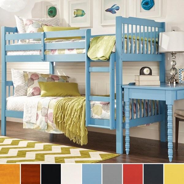 TRIBECCA HOME Simone Honey Pine Bunk Beds