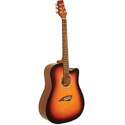 Kona Traditional Sunburst Dreadnought Acoustic Guitar