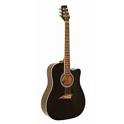 Kona High-gloss Black Dreadnought Acoustic Guitar