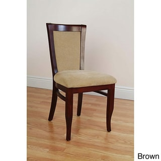European Walnut Dining Chairs (Set of 2)