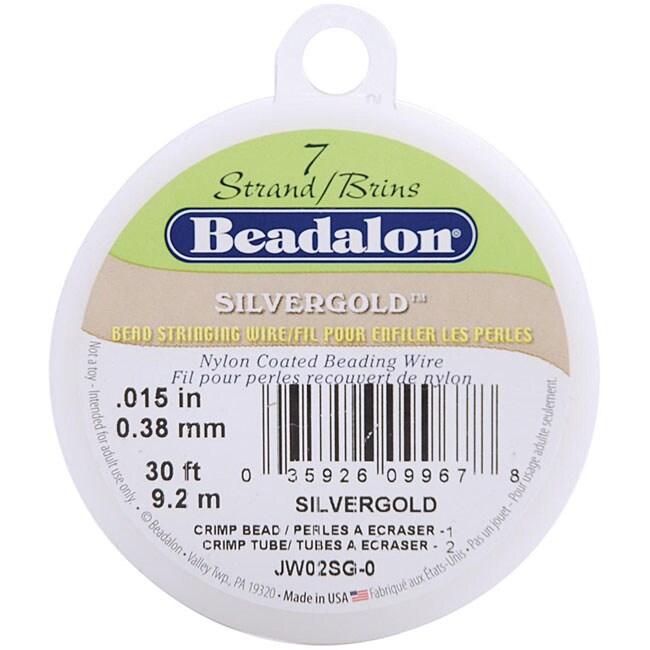 Silvergold 7-strand .015 (.38mm) 30-foot Stringing Wire
