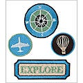 Pack Your Bags Embroidered Craft Badges (Pack of 4)