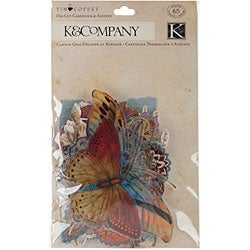 Blossomwood Cardstock and Acetate Foil and Glitter Die-Cuts (Pack of 65)