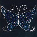 Jolee's Crystal and Metal Mosaic Butterfly Iron-on Jeweled Accent