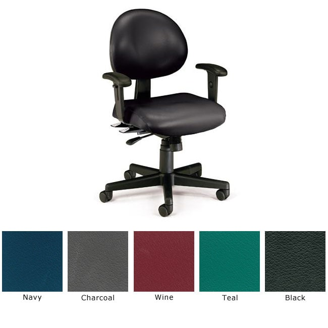 OFM 24-hour Antimicrobial Vinyl Task Chair with Arms