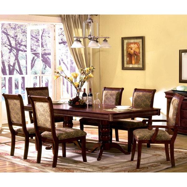 Shop Furniture Of America Ella Formal 7 Piece Dark Oak: Furniture Of America Ravena Oak 7-piece Cherry Dinette Set