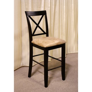 Furniture of America Napeolis Microfiber Counter-height Stools (Set of 2)