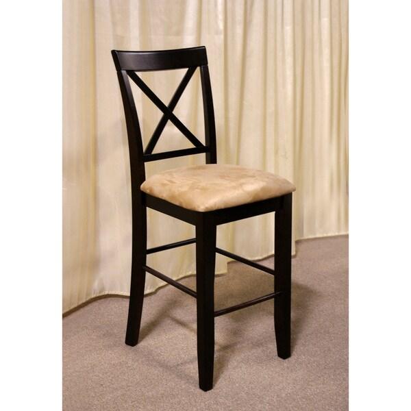 Furniture of America Napeolis Microfiber Counter-height Stools (Set of 2)