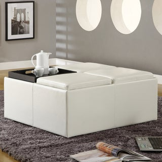 Decor Soft White Faux Leather Storage C