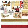ATC Vintage Tags and Ribbons (Pack of 13)