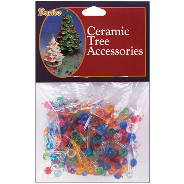 Darice Multi-color Ceramic Christmas Tree Bulbs (Pack of 250)