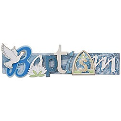 Baptism Stacked Statement 3-D Title Sticker