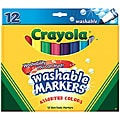 Crayola Broad Line Assorted Color Washable Markers (Pack of 12)