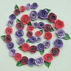 Spiral Rose Burgundy/ Red/ Purple/ Light Purple Quilling Kit