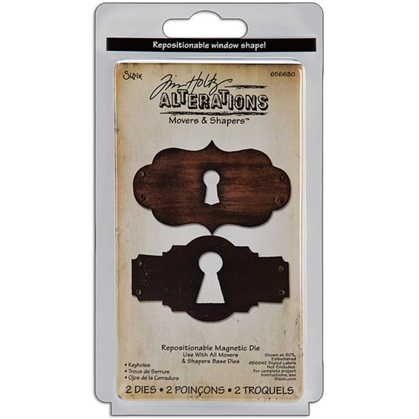 Sizzix Tim Holtz 'Keyholes' Movers and Shapers Magnetic Dies (Set of 2)