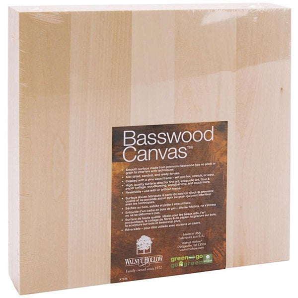 Walnut Hollow 10x10-inch Basswood Canvas