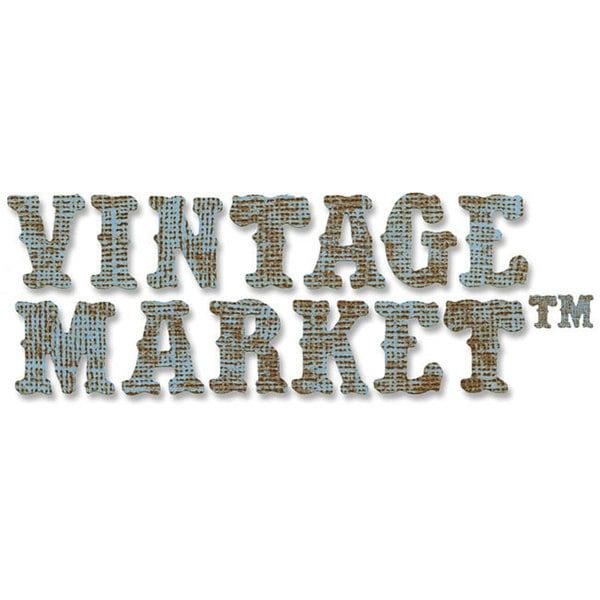 Sizzix Sizzlits Vintage Market Alphabet Decorative Strip Die