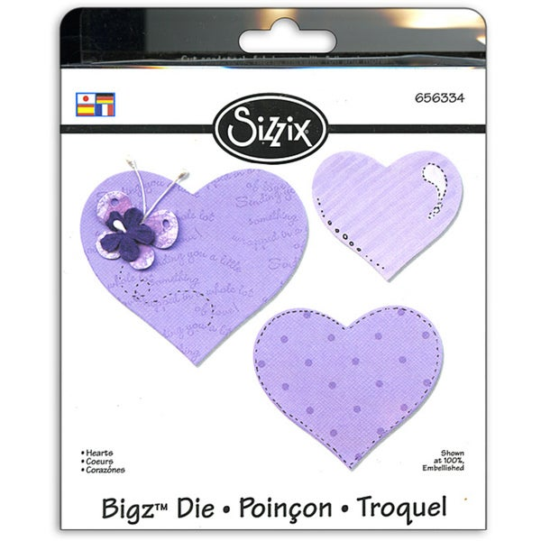 Sizzix Bigz BIGkick/ Big Shot 'Hearts' Die
