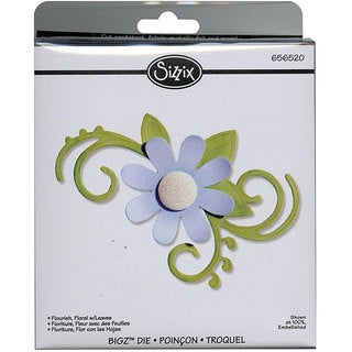 Sizzix Bigz BIGkick/ Big Shot 'Floral Flourish with Leaves' Die