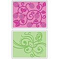 Sizzix Textured Impressions 'Fruit and Vine: Raspberry/ Watermelon' Embossing Folders (Pack of 2)