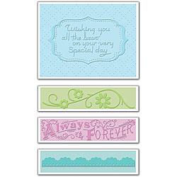 Sizzix Textured Impressions 'Wedding 3' Embossing Folders (Pack of 4)