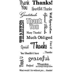 Inkadinkado 'Thank You Words' 4x8-inch Clear Stamp Sheet