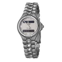 Tissot Women's T-Classic PR50 Titanium Digital Grey Dial Watch