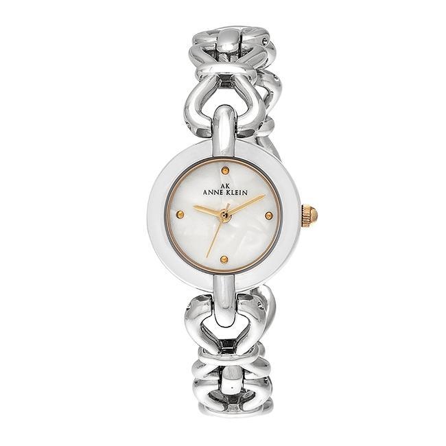 Anne Klein Womens Two tone Round Dress Watch