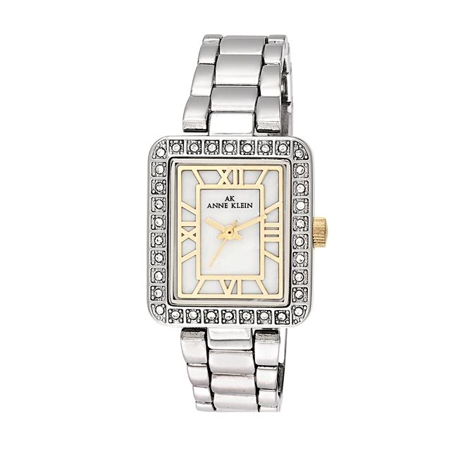 Anne Klein Womens Two tone Square Dress Watch