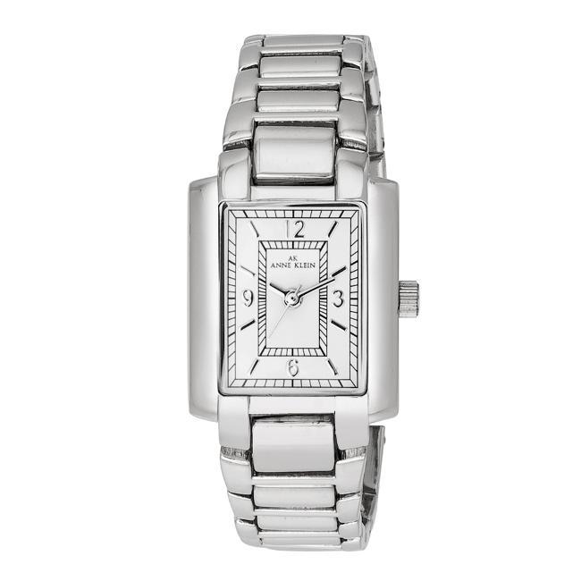 Anne Klein Womens Silvertone Dress Watch