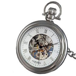 Akribos XXIV Men's Mechanical Stainless Pocket Watch