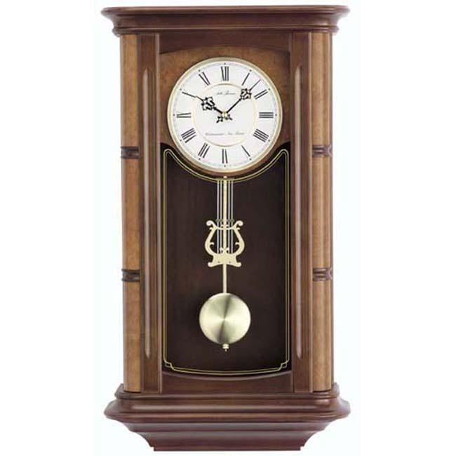 seth thomas 39 randolf 39 walnut wood chime pendulum wall