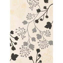 Alexa Euro Collection Spring Season Floral Ivory Rug (6'6 x 9'6)