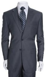 Ferrecci Men's Steel Grey Two-button Suit