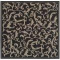 Indoor/ Outdoor Mayaguana Black/ Sand Rug (6' 7 Square)