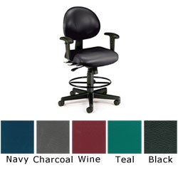 OFM 24-hour Antimicrobial Vinyl Task Stool with Arms