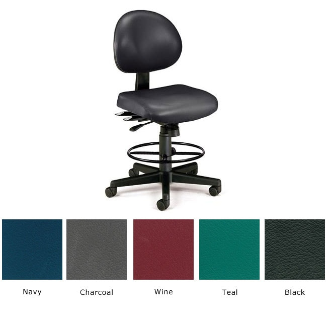 Ofm 24 Hour Antimicrobial Vinyl Task Stool