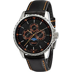 Stuhrling Original Men's 'Artemis' Quartz Moon Watch