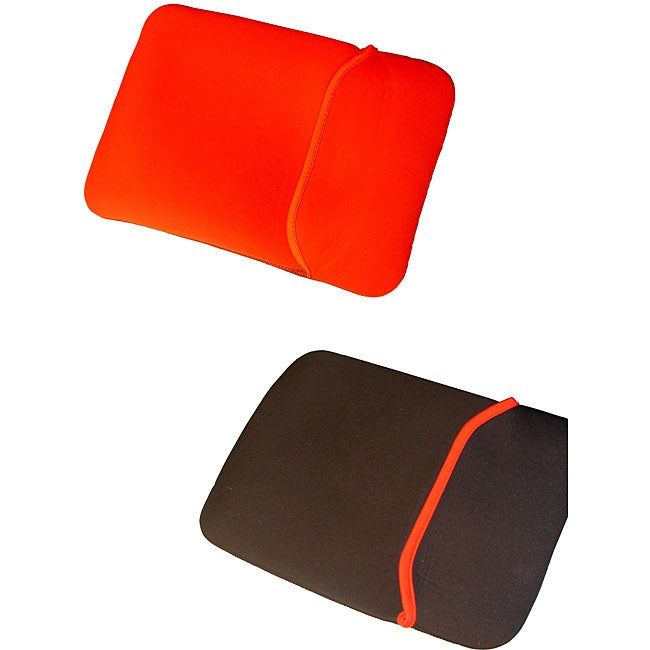 Generic Reversible Black and Red 17 Inch Laptop Sleeve