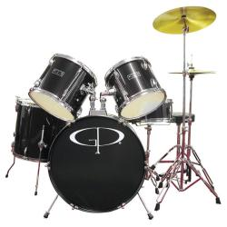 GP Percussion Black Complete 5-piece Drumset