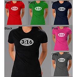 Los Angeles Pop Art Women's John 3:16 T-shirt
