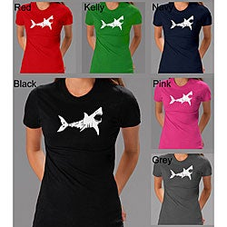Los Angeles Pop Art Women's 'Bite Me' Shark T-shirt